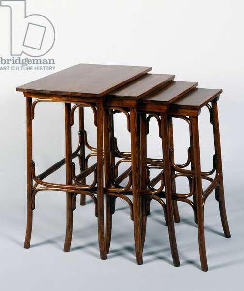 Stowaway tables (interlocking), 1940s