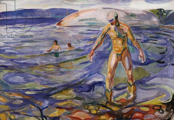 Bathing man, 1918, by Edvard Munch (1863-1944), oil on canvas. Norway, 20th century.