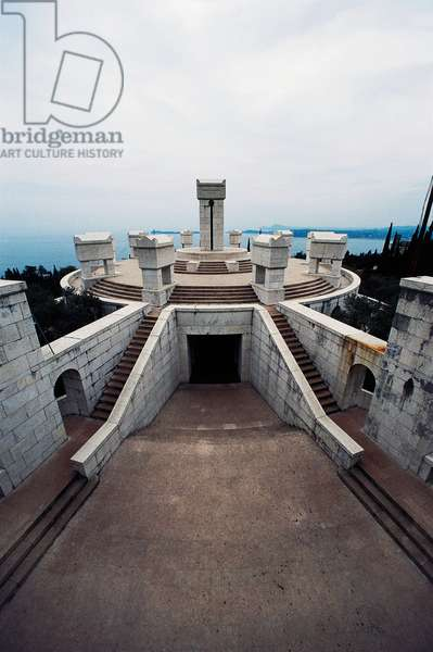 Tombs of Gabriele D'Annunzio and heroes, Shrine of Italian Victories, 1921-1938, Gardone Riviera, Lombardy, Italy