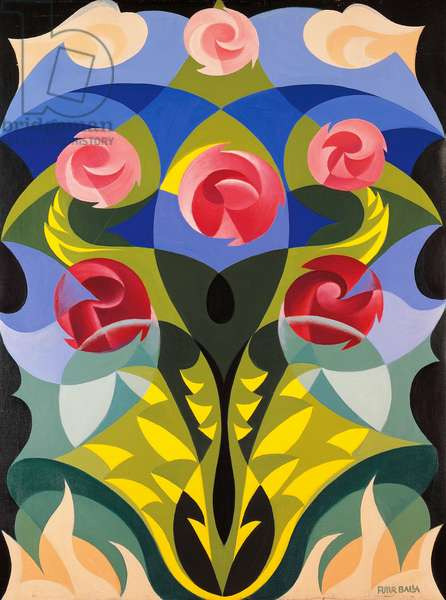 Futurist flowers, by Giacomo Balla (1871-1958). Italy, 20th century.