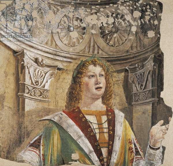 Singer, by Donato Bramante (1444-1514), fresco, Italy, circa 1485