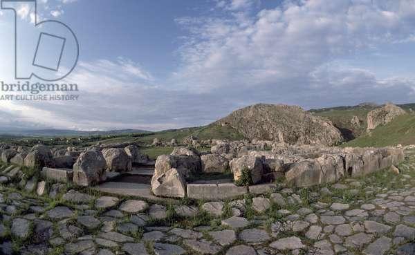 Lower town of Hattusa (Bogazkoy), capital of Hittite empire (UNESCO World Heritage Site, 1986), Turkey, Hittite civilization, 2nd millennium BC