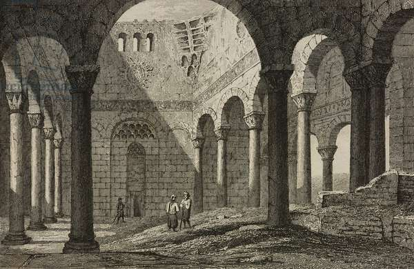 Interior of Saladin Citadel, Cairo, Egypt, engraving by Lemaitre from Egypte depuis la conquete des Arabes jusque la domination francaise, by Marcel, L'Univers pittoresque, published by Firmin Didot Freres, Paris, 1839
