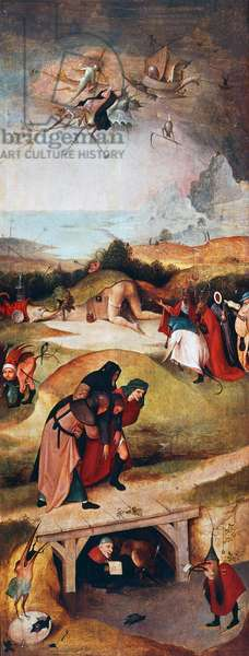 Triptych of temptation of St Anthony, left panel, c.1501 (oil on panel)