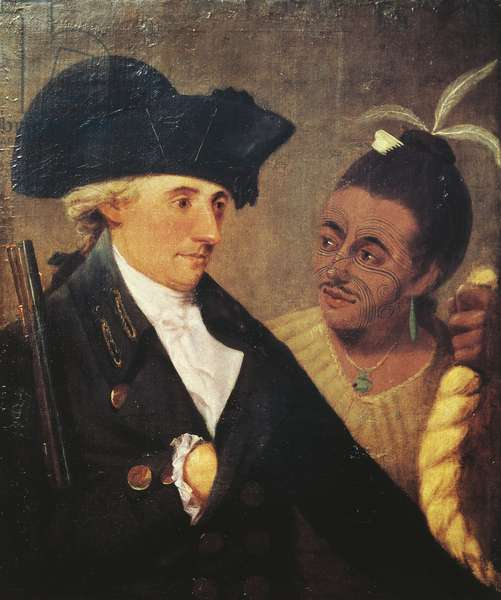 Portrait of Captain Charles Clerke (1741-1779), English captain and traveling companion of James Cook (1728-1779). Painting by Nathaniel Dance-Holland (1735-1811), 1776