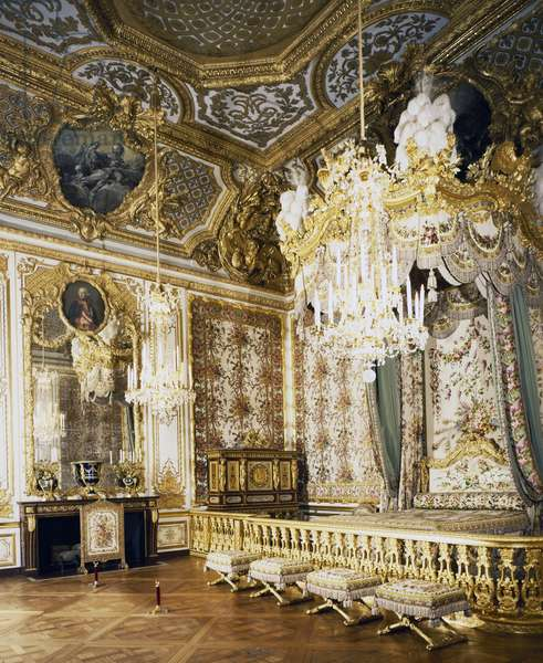 The queen's room, the queen's large apartment, Palace of Versailles (Unesco World Heritage List, 1979), Ile-de-France, France