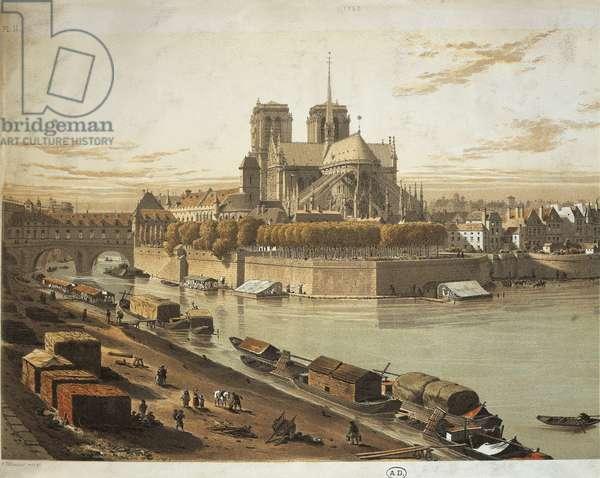France, Paris, Cathedral of Notre-Dame de Paris