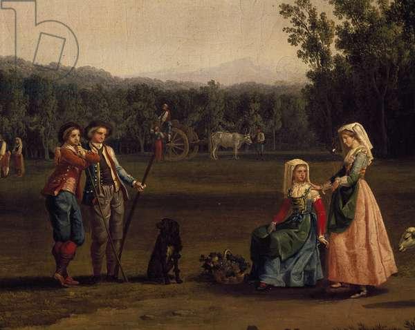 Trip to Caserta royal estates, by Jacob Philipp Hackert (1737-1807)