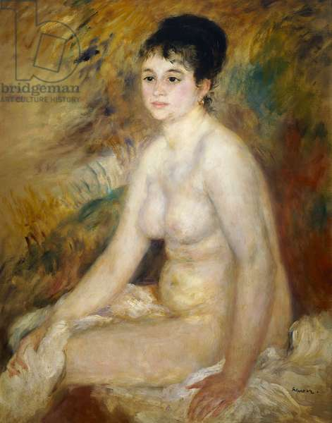 After the bath, 1876, by Pierre-Auguste Renoir (1841-1919), oil on canvas, 93x73 cm. France, 19th century.