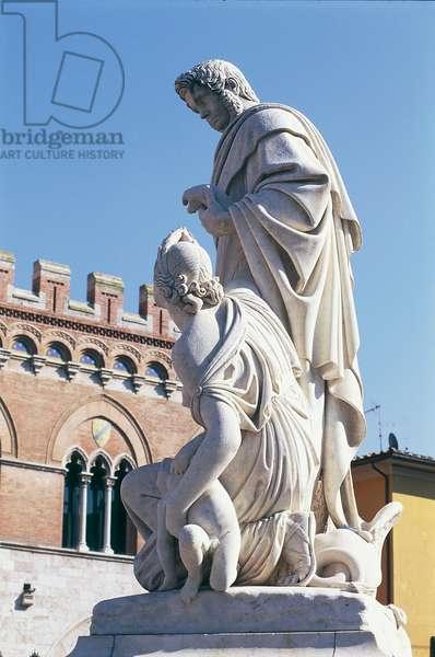 Monument to Canapone (Grand Duke Leopold II of Lorraine), 1846, Piazza Dante, Grosseto, Tuscany, Italy, 19th century