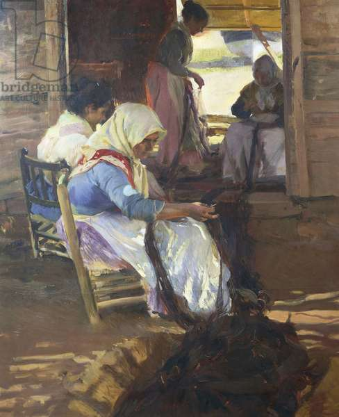 Sewing of nets, 1901, by Joaquin Sorolla y Bastida (1863-1923), oil on canvas
