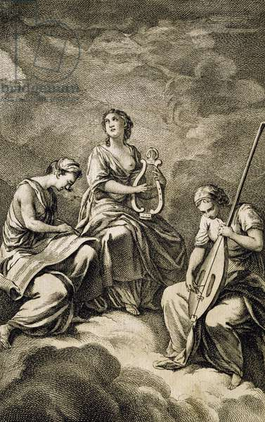 Allegory from Code of Music Practice, by Jean-Philippe Rameau (1683-1764), 1760