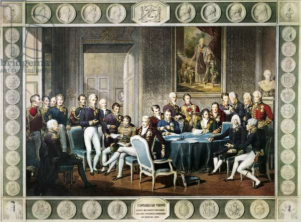 Participants at the Congress of Vienna in 1814-15, Austria