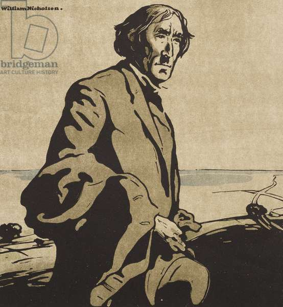 Portrait of Sir Henry Irving, from 'Twelve Portraits', First Series, 1899 (woodcut)