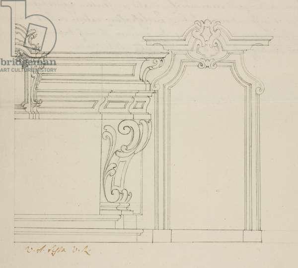 Design for altar of Oratory of Saint Bernardine, Somma Lombardo, parish of Somma, July 31, 1769, Cardinal Giuseppe Pozzobonelli, elevation drawing, Italy, 18th century