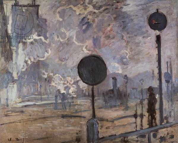 Gare Saint Lazare (Le Signal), 1877 (oil on canvas)