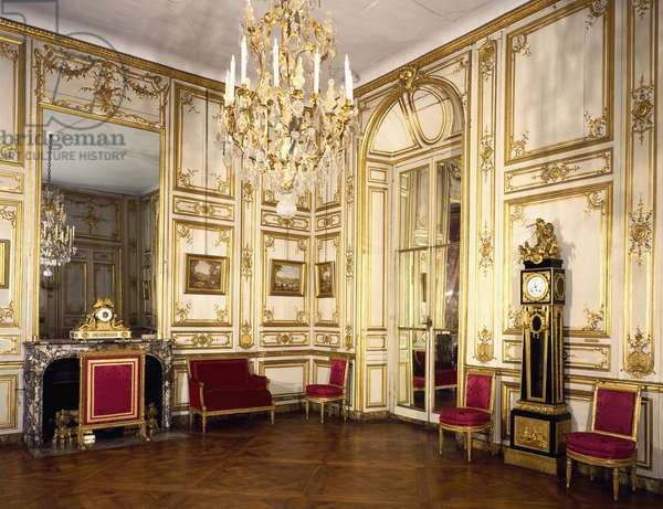 Louis XV's dining room, Palace of Versailles, France, 18th century