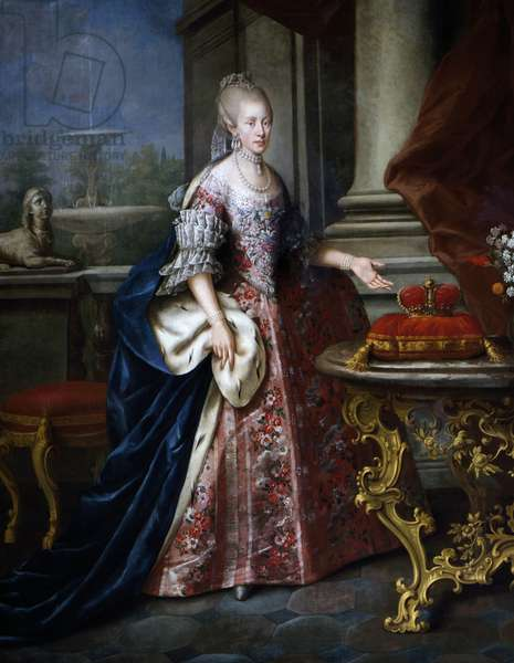 Portrait of Infanta Maria Luisa of Spain (Portici, 1745-Vienna, 1792), Empress consort of Leopold II (1747-1792), emperor of the Holy Roman Emperor and Grand Duke of Tuscany (as Peter Leopold)