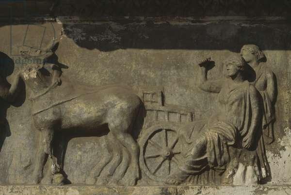 Rape of the Sabine Women, frieze from the Basilica Aemilia, Rome, Italy, Roman civilization, 1st century BC, Detail