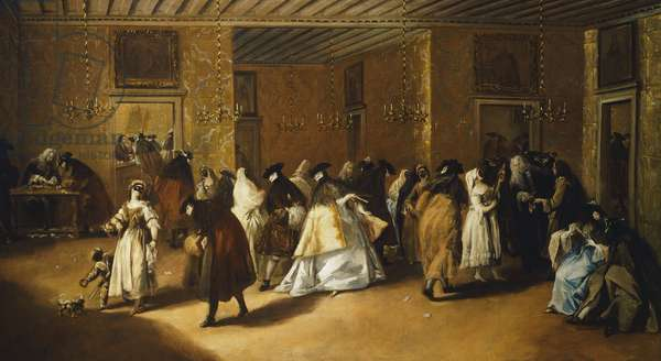 Foyer, 1755, by Francesco Guardi (1712-1793), oil on canvas, 108x208 cm