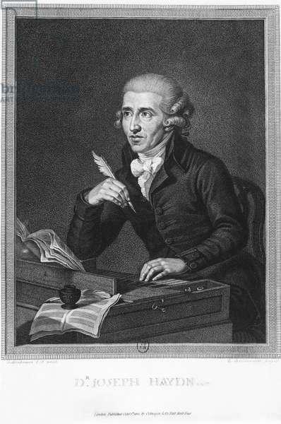 Portrait of Austrian composer and pianist Franz Joseph Haydn (Rohrau, 1732-Vienna, 1809), print