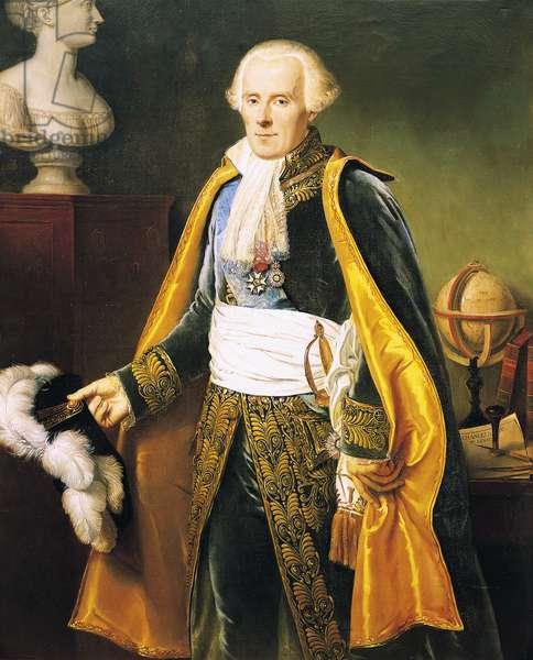 Portrait of Pierre-Simon Laplace (Beaumont-en-Auge, 1749-Paris, 1827), marquis of Laplace, French mathematician and astronomer, Painting by Pierre-Narcisse Guerin (1774-1833)
