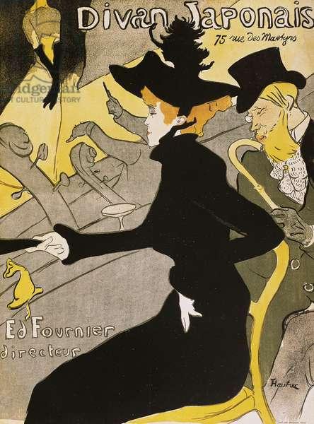 Poster for Divan Japonais, by Henri de Toulouse-Lautrec (1864-1901)