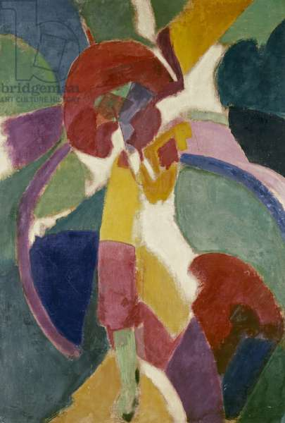 Woman with a Parasol, 1913 (oil on canvas)