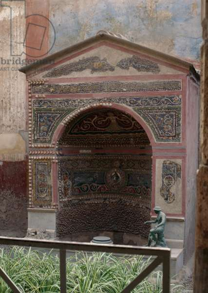 House of Small Fountain in ancient city of Pompeii (UNESCO World Heritage Site, 1997), Naples, Campania, Italy, Roman civilization, 1st century AD