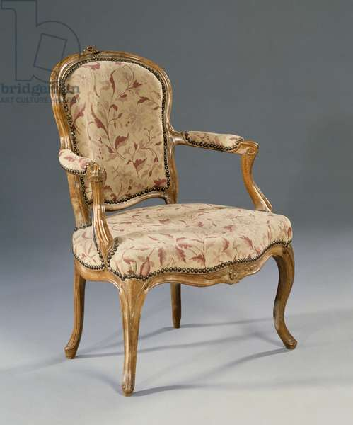 Louis XV style fauteuil (elbow chair), France, 18th century