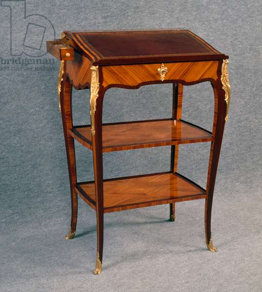 Louis XV style Second Empire (Napoleon III) tulipwood and amaranth writing desk, stamped by A Beurdeley, France, 19th century