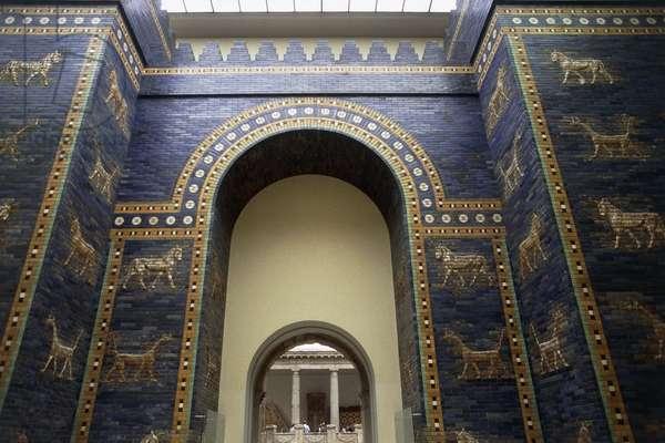 Ishtar Gate, reconstruction in Pergamon Museum, Berlin, Germany, Babylonian civilization, 2nd millennium - 6th century BC, Detail