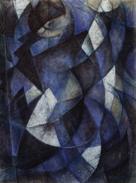 Blue dancer, 1913, by Gino Severini (1883-1966), oil on canvas. Italy, 20th century.
