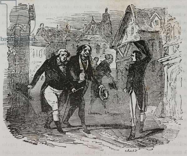Napoleon Bonaparte during trip to Burgundy