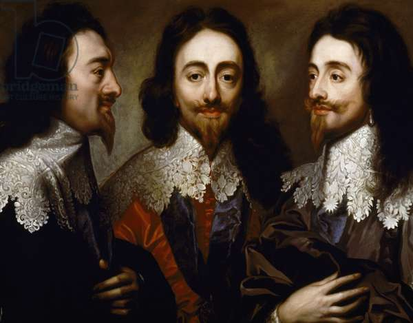 Triple portrait of Charles I, King of England (1600-1649), copy by Henry Stone after Anthony van Dyck, oil on canvas