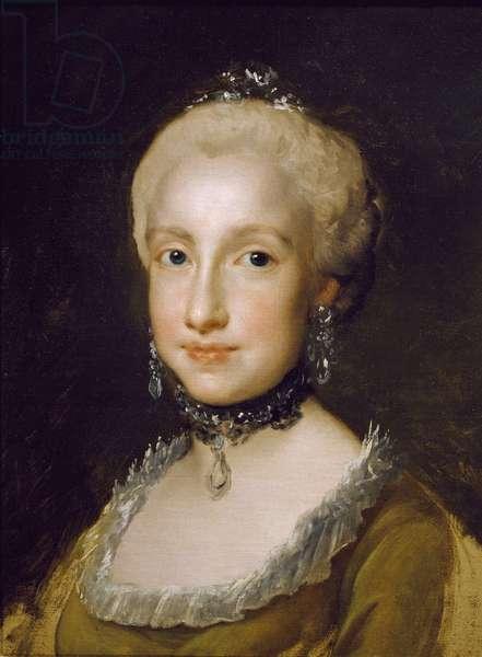 Portrait of the Infanta Maria Luisa of Bourbon, by Anton Raphael Mengs, 1764, oil on canvas, 1728-1779, 45x33 cm