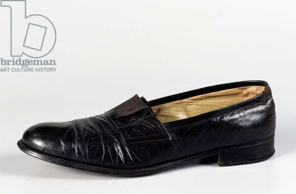 Shoe worn by Pope Saint John XXIII during conclave in which he was elected pope