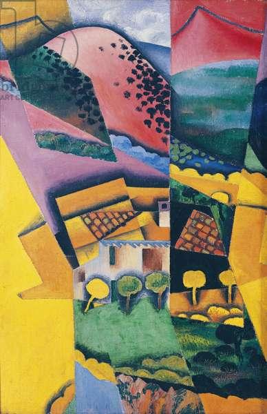 Landscape at Ceret, 1913 (oil on canvas)