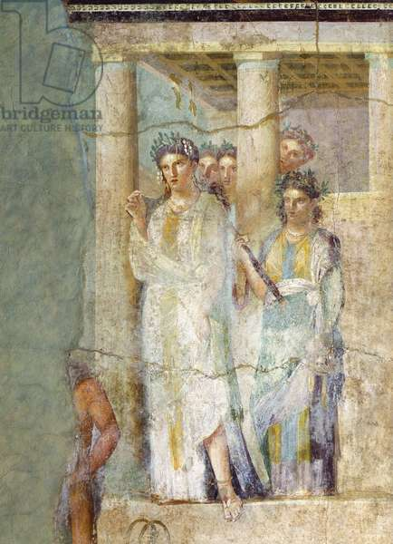 Fresco depicting Iphigenia in Tauris, from House of Pinario Ceriale in Pompeii , Campania, Roman Civilization, 1st Century