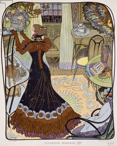 In Search of Lost Time, 1913-1927,  illustration for the Marcel Proust's novel (lithograph)