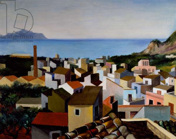 Bagheria landscape, 1951, by Renato Guttuso (1911-1987), oil on canvas. Italy, 20th century.