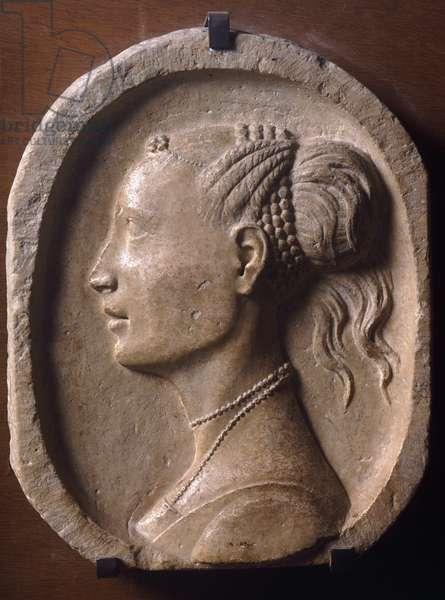 The Duchess of Urbino, by Francesco di Giorgio Martini (1439-1501), relief