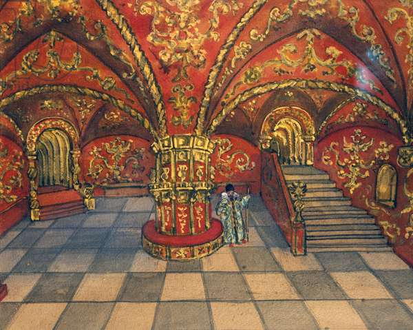 Set design for the Act II of Dmitri opera by Antonin Leopold Dvorak, 1902-1903 (illustration)