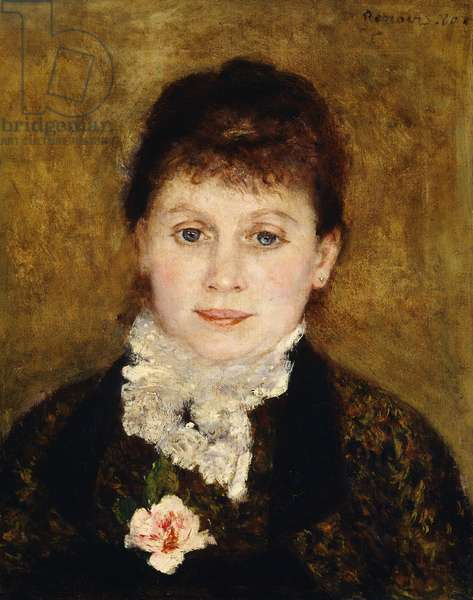 Portrait of woman by Pierre-Auguste Renoir (1841-1919)