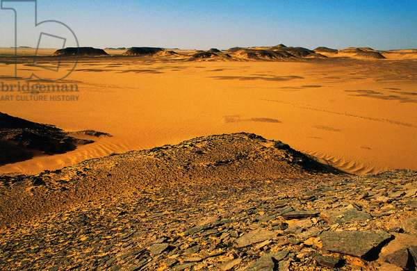 Eastern Sahara Desert on border with Sudan, south of Sinn el Kaddab, Egypt (photo)