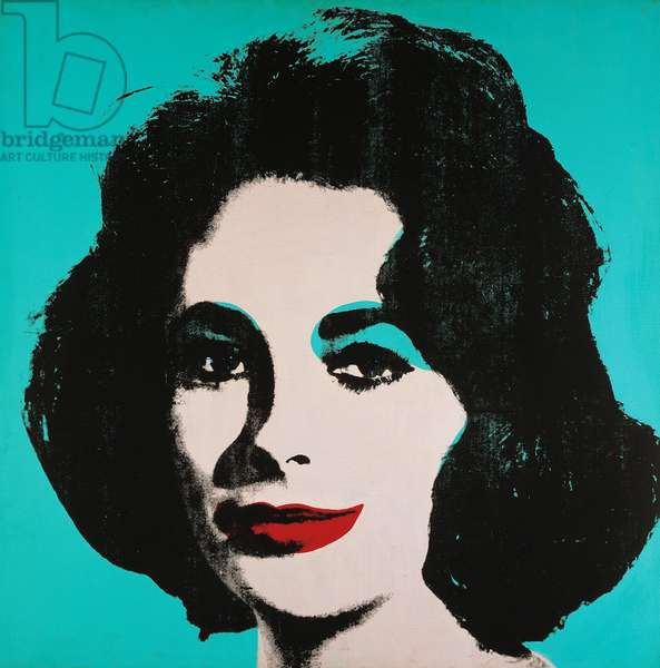 Early coloured Liz, 1963, by Andy Warhol (1930-1987). United States of America, 20th century.