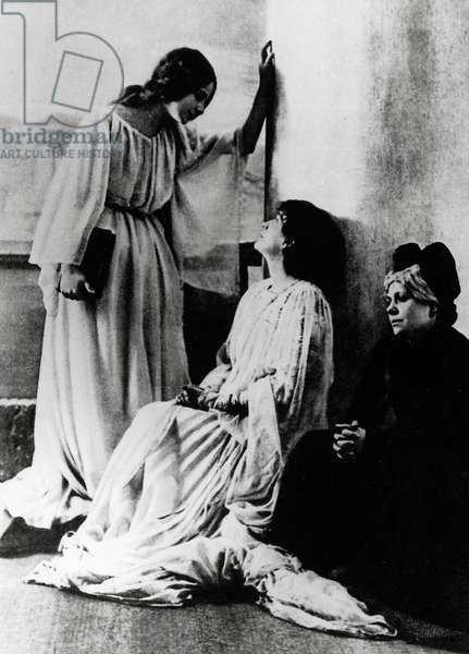 The Italian actress Eleonora Duse (1858-1924) in The Dead City by Gabriele D'Annunzio, production still. 20th century