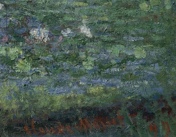 The Waterlily Pond: Green Harmony, 1899, by Claude Monet (1840-1926). Detail.