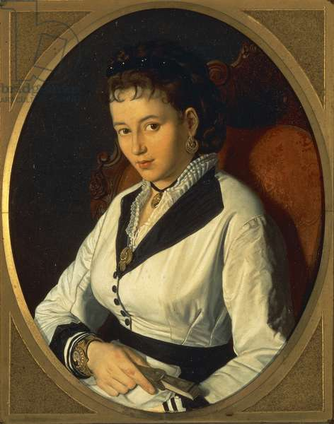 Portrait of Young Woman(oil on canvas) 1840-1869