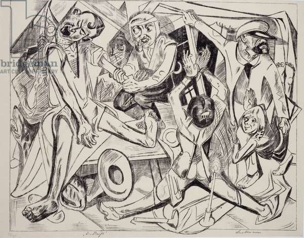 Malepatrus, by Max Beckmann (1884-1950), lithograph. Germany, 20th century.